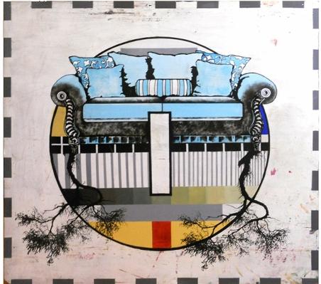 Pereza - Acrylic and serigraphy - 160 x 160