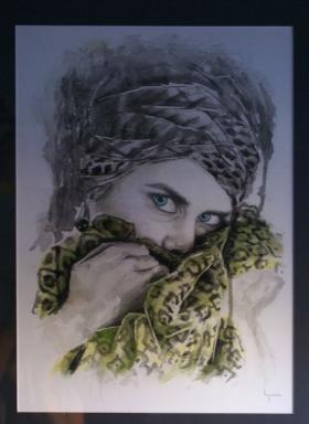 SELF PORTRAIT - Watercolor - 29 x 42 cm