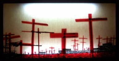 CRUCIFIXION ON - Light box - 70 x 30