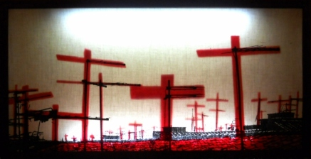 CRUCIFIXION ON - Light box - 70 x 30
