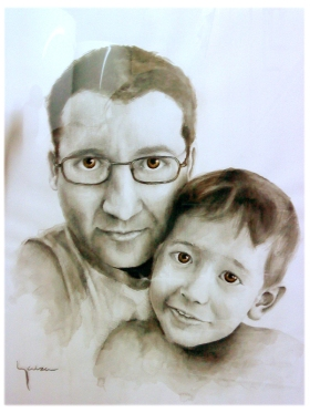 COMMISSION - Watercolor and pencil - 29 x 42 cm