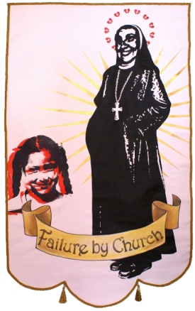 FAILURE BY CHURCH - Serigraphy and acrylic - 180 x 108